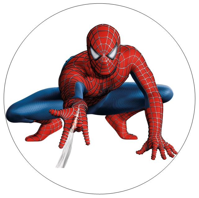 Spiderman edible print approx 20 cm - Image spiderman ...